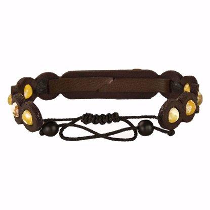 دستبند چرم کهن چرم مدل br309-4